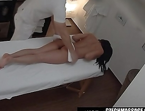 Brunette Sexy Babe Secretly Fucks on Palpate Table