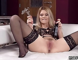 Hot czech girl stretches her acute vagina respecting the unusual