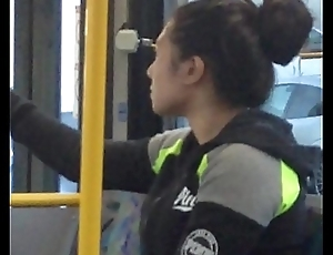 Unladylike Yawning &amp_ Stretching On Bus