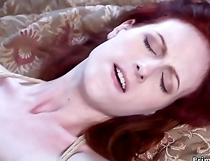 Redhead dominates step sister coupled with fucks will not hear of bf