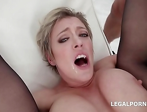 Brass hat of Balls Deep Anal Dee Williams 4 on 1 DAP