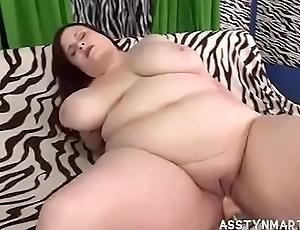 Sexy Redhead BBW Asstyn Acquires Group-fucked Apart from Fuck Machine