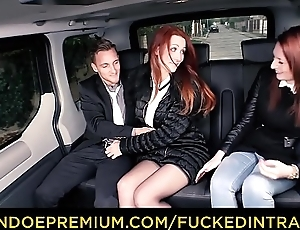 FUCKED IN TRAFFIC - Sexy Euro redhead Isabella Lui copulates hither the car after ditching her friend