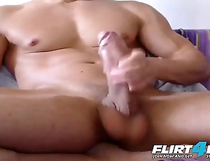 Markley - Flirt4Free - Faceless Meat Stud Displays His Enormous Cock and Nicked Body