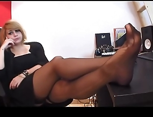 French mistress instruct her teen resultant in what way to worship her sweaty feet -  watch more on SweetNylonFeet.com