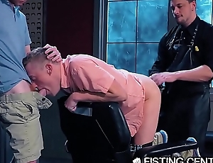 Undernourished Bottoms Deeply Fisted by Leather Daddy