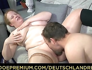 DEUTSCHLAND Merit - Chubby German mature minx swallows effectual load