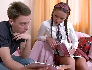 Anal Thing embrace is peerless the right move for Horny Schoolgirl