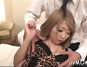 Milf devours big cock after getting nipps splintered
