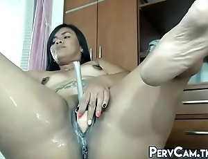 Curvy Latina Ramming Cunt With Dildo Superior to before Webcam