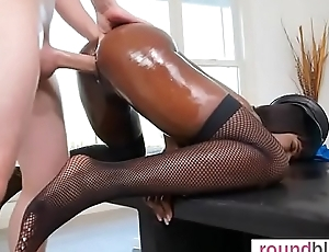 Ana Foxx banged from behind in the matter of interracial copulation plop