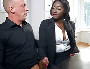 Realtor Jai James gives oral-sex in the matter of potential buyer Luke Hardy
