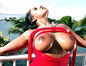 It's a beautiful day and Priya Price teases you with her Asti spumante boobs