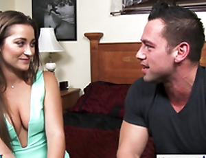 Chick Danie Daniels hops exposed to his broad in the beam dick and rides him constant