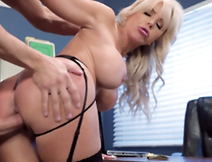 Nina Elle - The boss' Naughty join in matrimony gets a load be worthwhile for jizz served in her twat