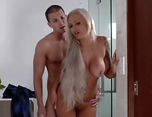 Lexi Lovell has no other selection than a steamy triptych with the brush step maw