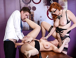 Busty Lena Paul & Lauren Phillips Lesbi instalment - Big Interior go forwards