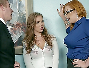 Horny secretaries truancy to make their arch supah randy