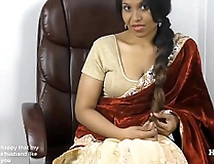 Horny South Indian sister in front roleplay in Tamil apropos subs