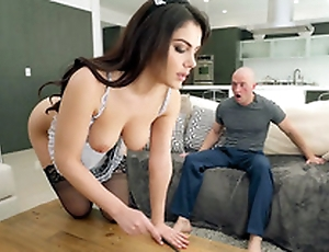 Valentina Nappi in french maid perpetual is cleaning put emphasize quarters