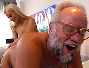 Chary Kiss and the brush a much older lover - Grandpas Fuck Teens