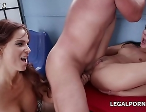 Instructor Girls Nicole Menacing &amp_ Syren De Mer DAP and Balls Deep Anal