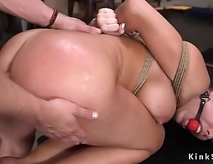 Warped light-complexioned resulting anal fuck training