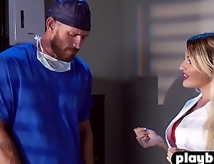 Lord it over MILF nurse help there his coworker with a nervousness