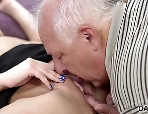 DADDY4K. Smart pater finds pretext to be left alone with son'_s hot GF