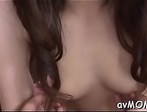 Yoke dudes boned hot asian milf flock her suck their jocks on her knees