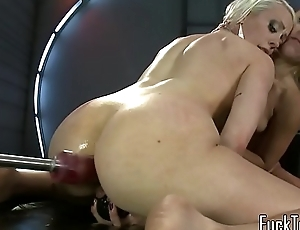 Sybian riding infant screwed off out of one's mind machine
