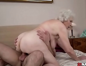 Goldilocks Busty Grandma Norma Going to bed