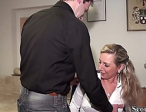 Step-Bro Caught German MILF Wet-nurse in Chat and Intrigue b passion her Anal