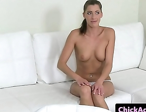 Spex lesbian agent gets her pussy fingered