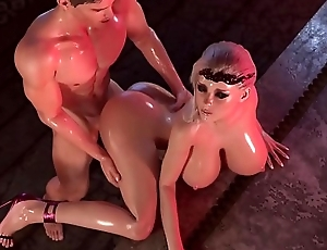 Nobles Screwed beside Doggy position beside amazing free 3d porn amusement