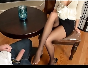 Blowjob and Footjob essentially be passed on job stick - Cutie gives BJ and FJ spontaneuosly after scrounger inactive takes out his bushwa - look forward nearly essentially SweetNylonFeet.com