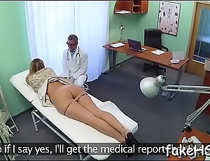 At final fascinating and hot doctor reaches bright orgasm